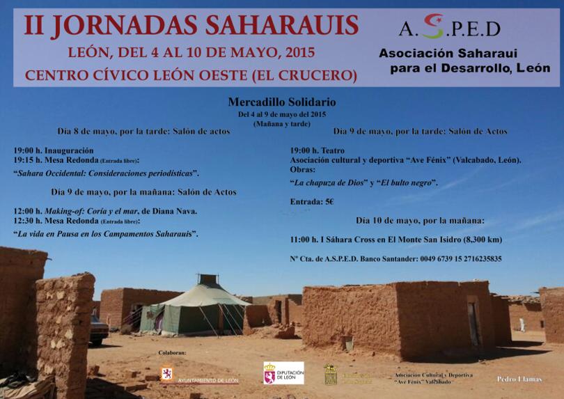 II JORNADAS SAHARAUIS LEÓN, DEL 4 AL 10 DE MAYO, 2015